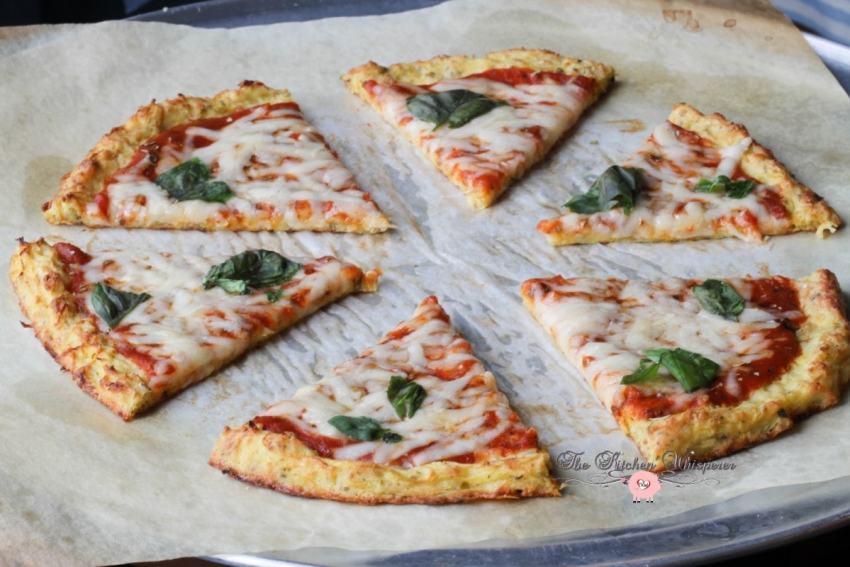 Cheesy Spaghetti Squash Crust Pizza3
