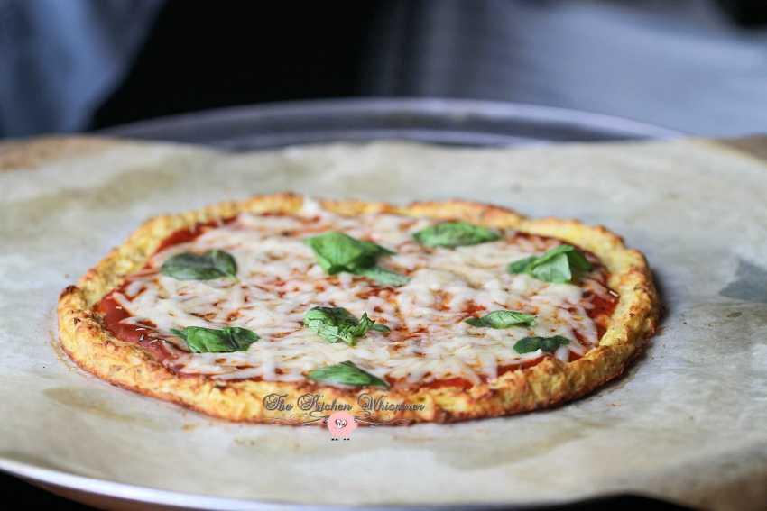 Cheesy Spaghetti Squash Crust Pizza8