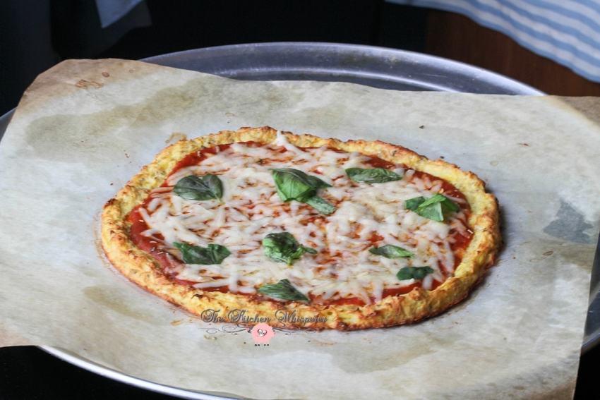 Cheesy Spaghetti Squash Crust Pizza9