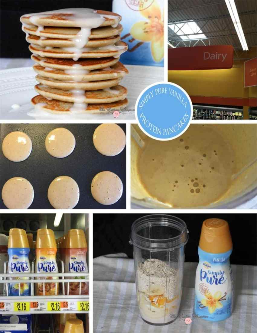 Vanilla Protein Pancakes Collage