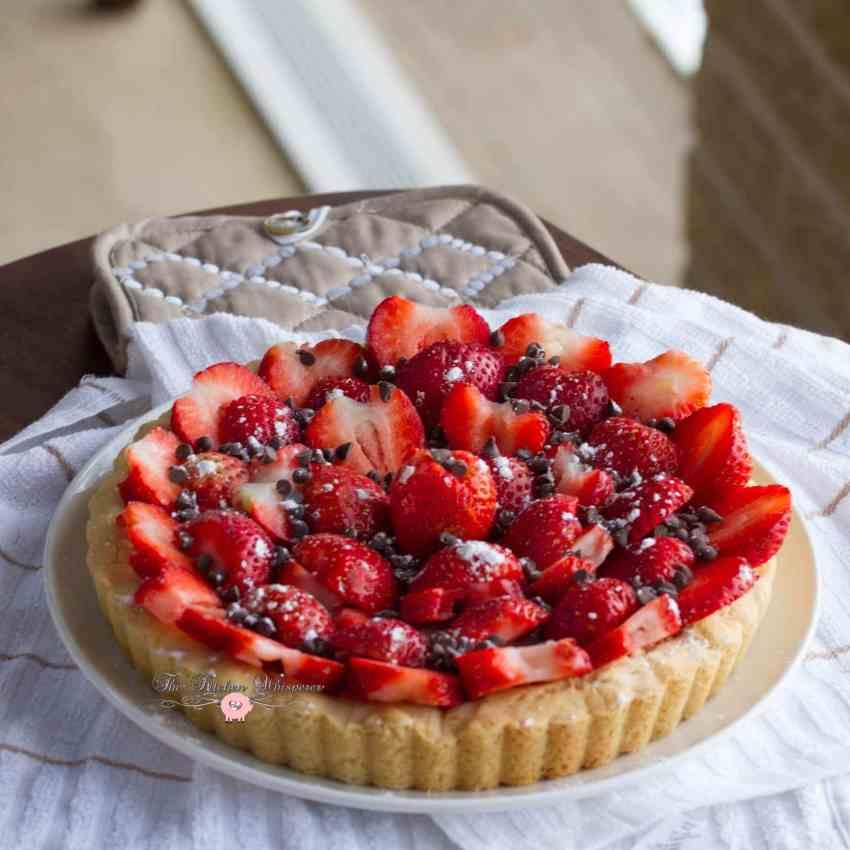 No Bake Cheesecake with Strawberry Glaze