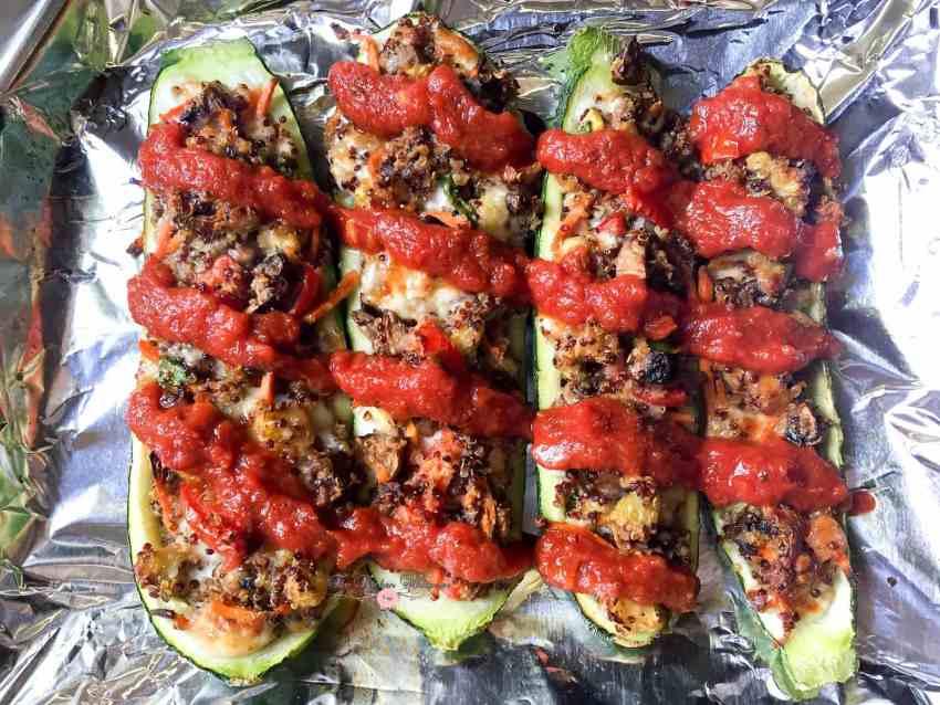 Italian Veggie Stuffed Zucchini Boats6