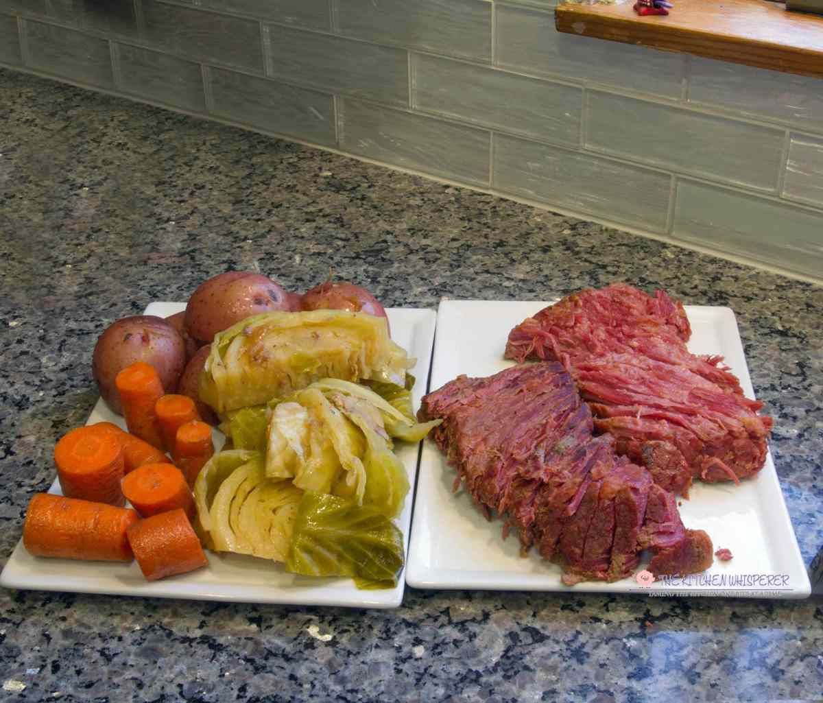 Pressure Cooker Guinness Corned Beef with Cabbage, Potatoes & Carrots