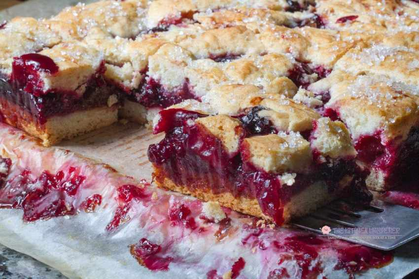 Easy & Super Delicious Cherry Pie Bars!