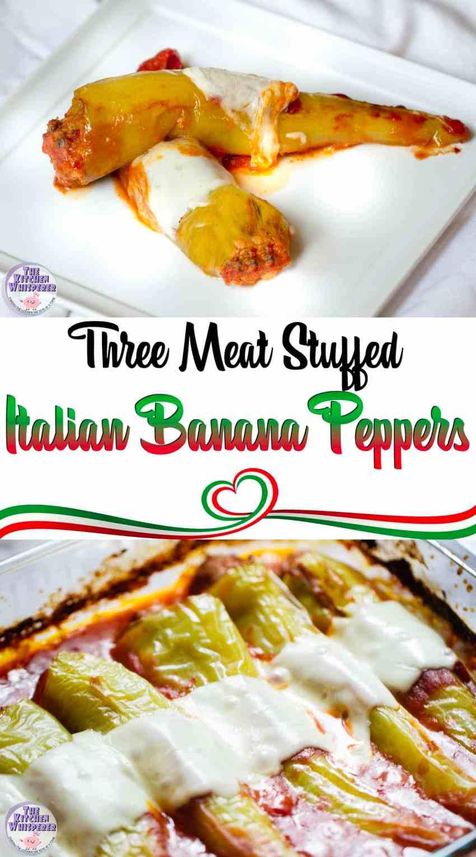 Italian Meat Stuffed Banana Peppers
