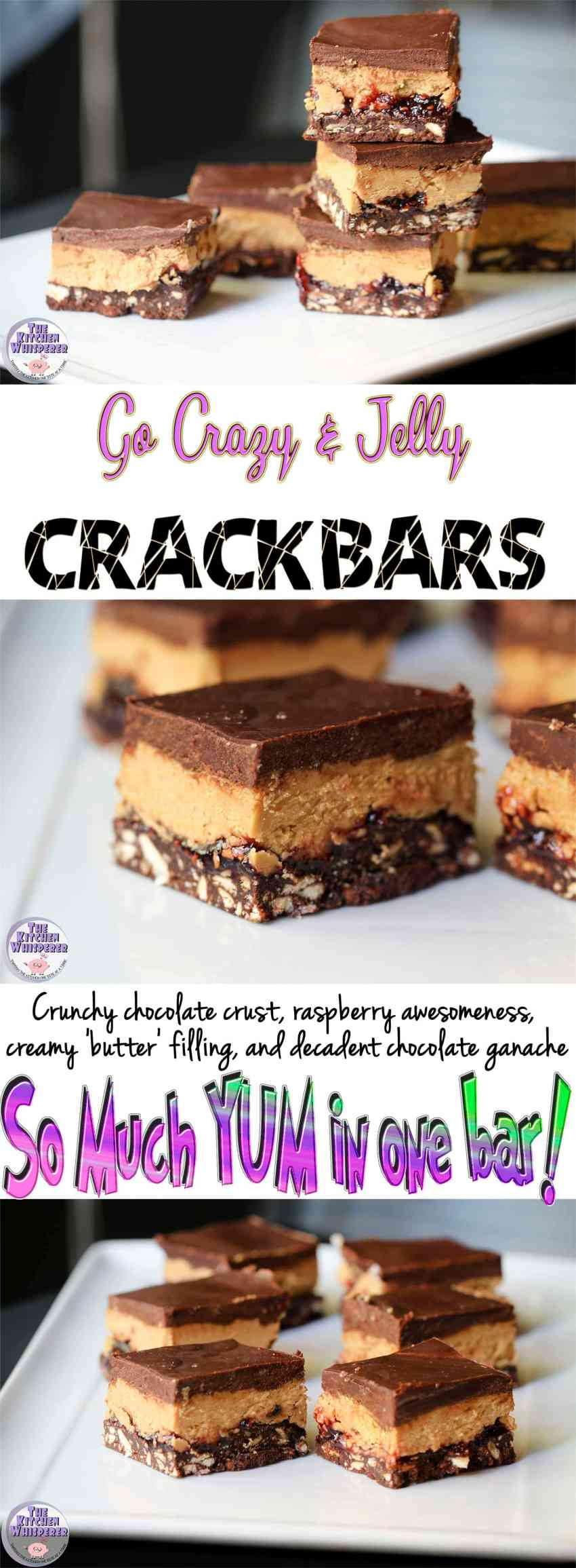 Go Crazy & Jelly Bars - Cookie Butter Peanut Butter & Jelly Crack bars