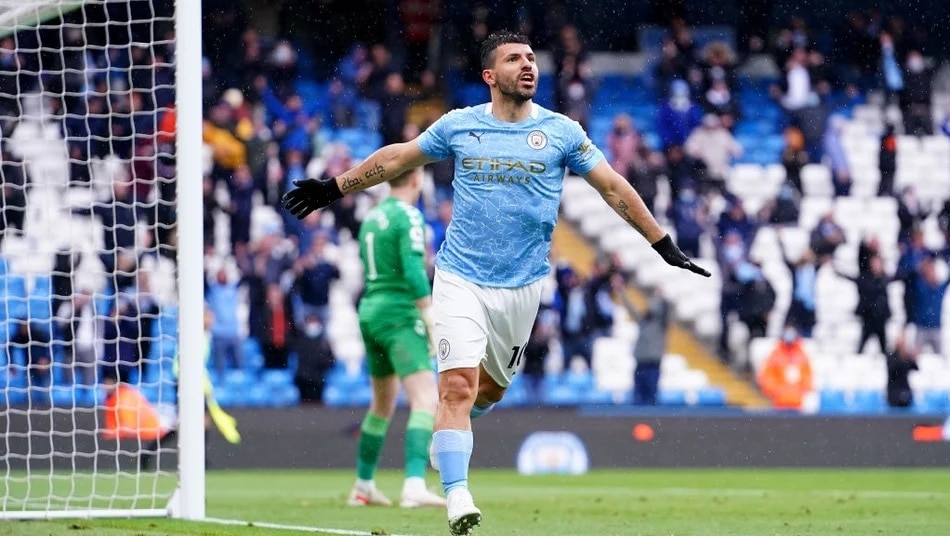 Gold Manchester City Home Shirt Sponsors 2020-21