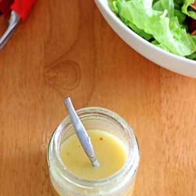 2 minute Honey Mustard Dressing
