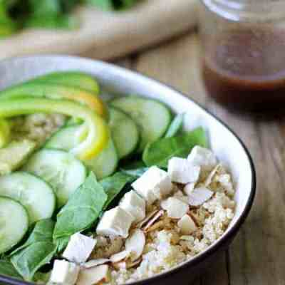 Super Green Summer Salad with Quinoa