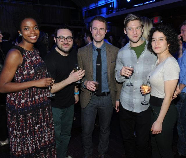 New York Ny April 24 L R Sasheer Zamata Eliot Glazer