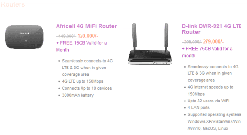 4G Mifi routers