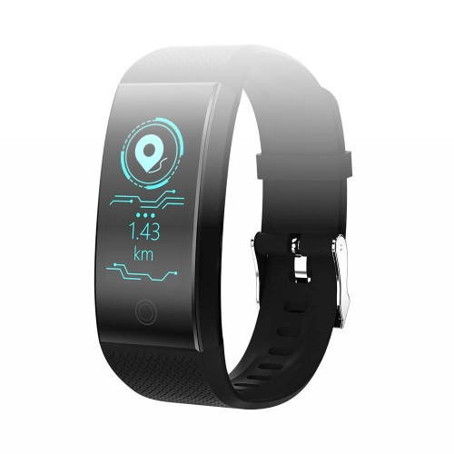Harpi Bluetooth 4.1 Smart Watch QW18 Smartwatch Sports Fitness Heart Rate Tracker Blood Pressure Smartwrists for iOS Android Phone (Black)