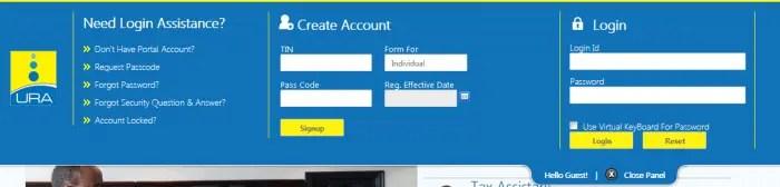Create URA Taxpayer Account