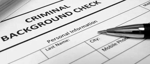 Employment Criminal Background Check