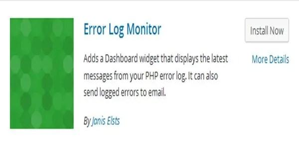 Error Log Monitor WordPress Plugin