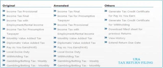 File URA e-Returns Tax
