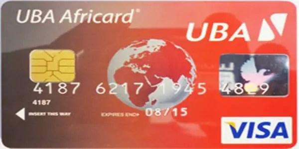 Free UBA Visa Credit Card Virtual Debit Card