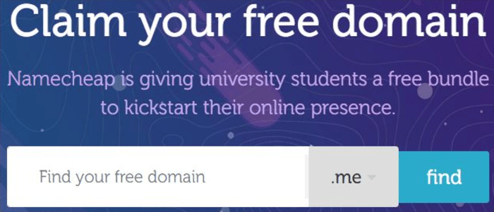 Free Domain Names For Students