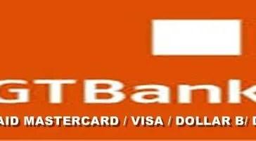 GTBank Prepaid Mastercard debit visa dollarcard