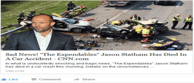 Jason Statham Car Accident Dead Hoax