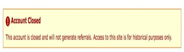 Amazon account closed