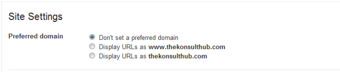 Setting Preferred Domain URL In Google Search