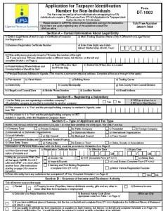 URA Manual TIN Application Form DT 1002