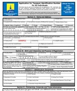 URA Manual TIN Application Form