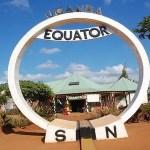 Uganda equator line