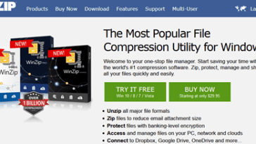 WinZip file compressing software