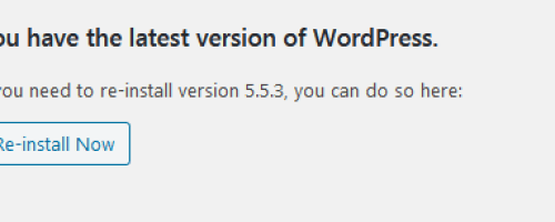 Reinstall WordPress previous version of choice