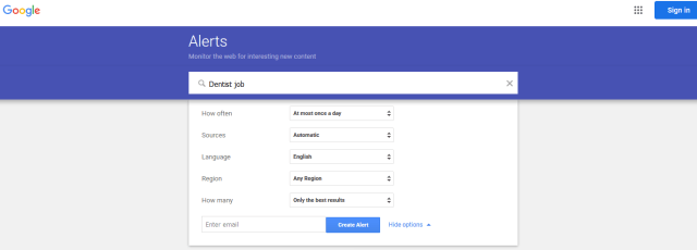 Google Alerts For Job Search