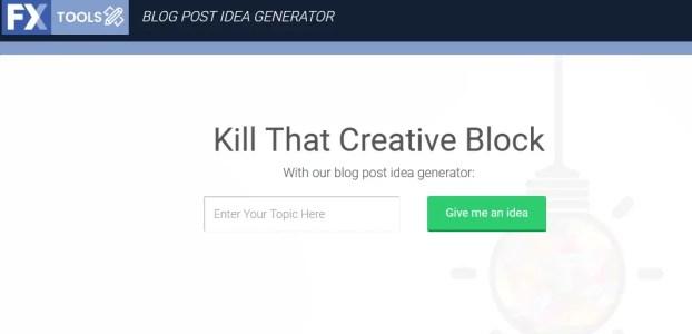 WebFx blog post idea generator