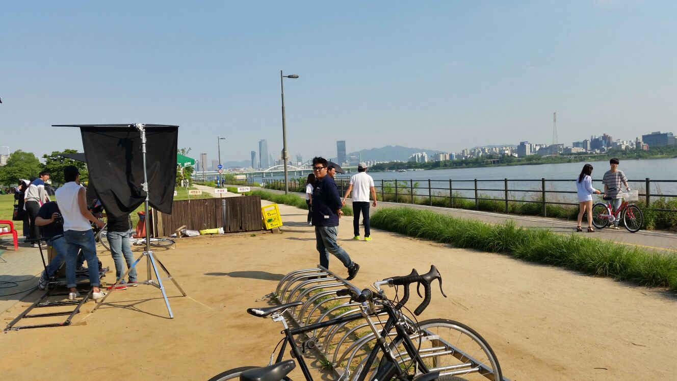 Yeouido - vélo au bord de la riviere Han - Blog corée du Sud - the korean dream