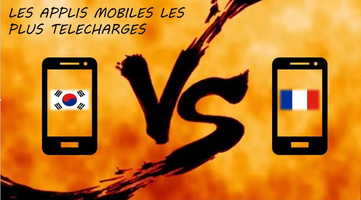 Les applications mobiles les plus téléchargées en Corée VS France