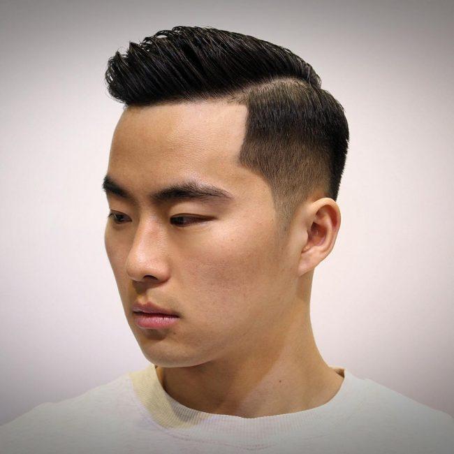 Cheveux plaque arriere homme