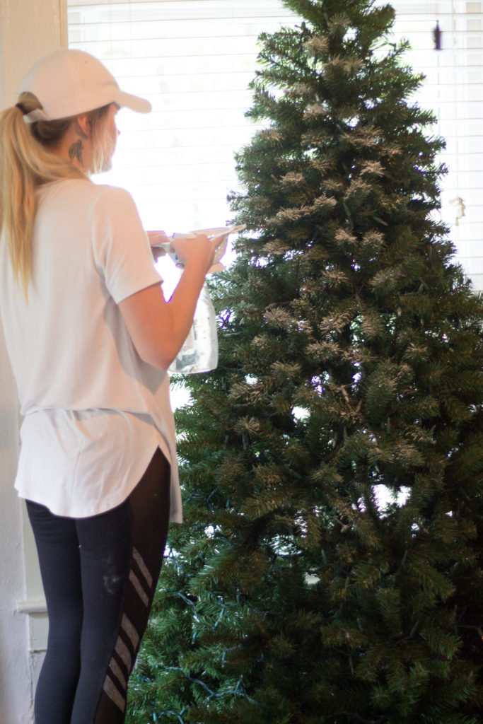 how to flock your christmas tree the edit - Small Fully Decorated Christmas Trees