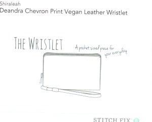Deandra Chevron Print Vegan Leather Wristlet
