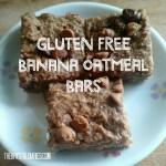Gluten Free Banana Oatmeal Bars