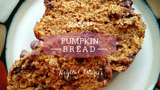 Pumpkin Bread - The Krystal Diaries