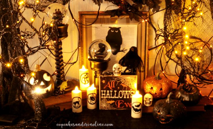 Cupcakes and Crinoline Halloween Decor