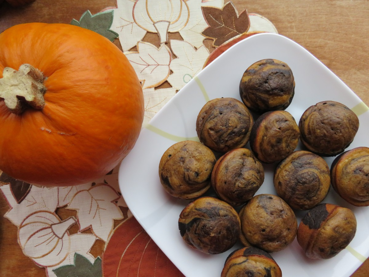 Pumpkin Dark Chocolate Muffins