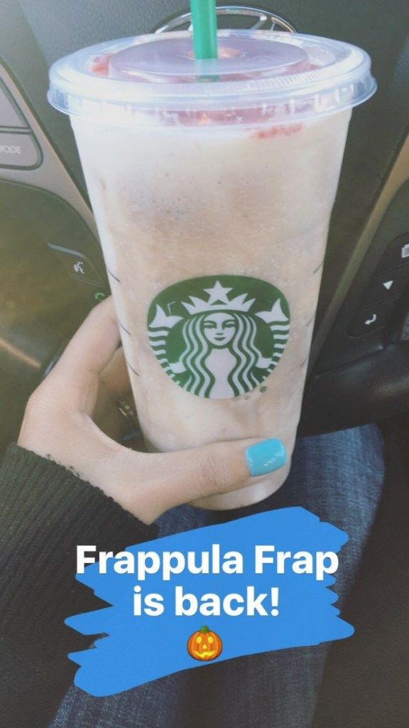 Frappula Frap from Starbucks // Currently, October 2016 // The Krystal Diaries
