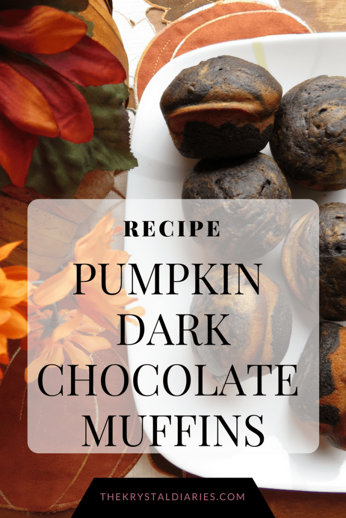 The best pumpkin dark chocolate muffin recipe // The Krystal Diaries