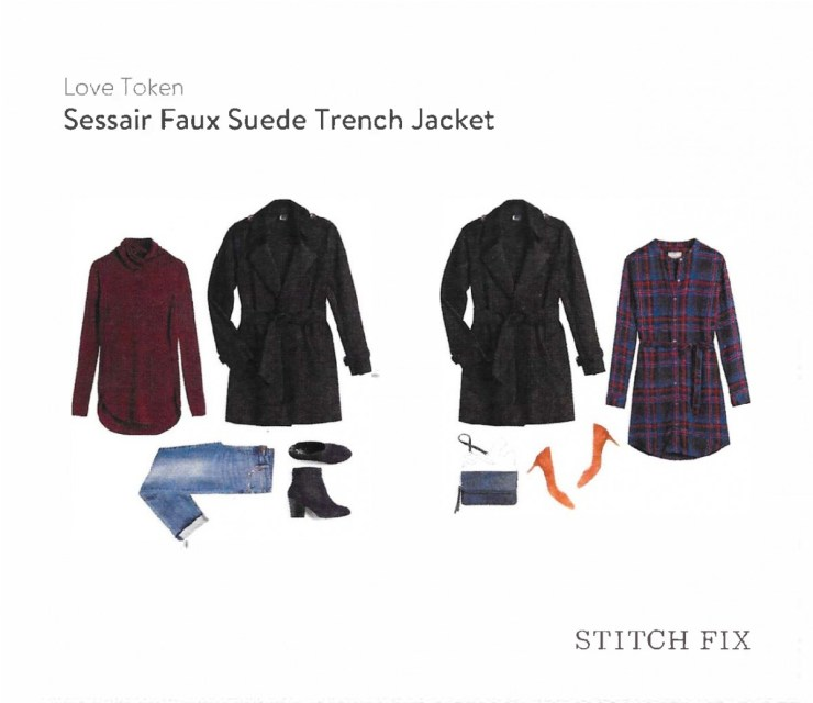 Sessair Faux Suede Trench Jacket - Love Token // Stitch Fix Review October 2016 // The Krystal Diaries