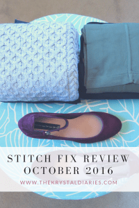Stitch Fix Review October 2016 // The Krystal Diaries