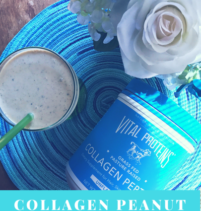 Collagen Peanut Butter Smoothie // The Krystal Diaries