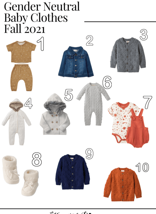 gender neutral baby clothes fall 2021