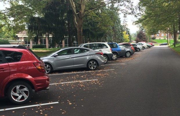 Effective this year, Kalamazoo College charges $90 for commuter student parking permits and $120 for on-campus students (MaryClare Colombo / The Index)
