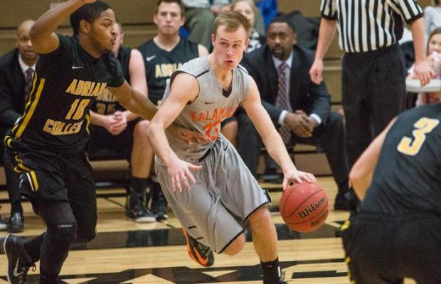 Adam Dykema in action against Western Michigan this past weekend (via Kalamazoo College Athletic Department)